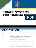 Trauma Triage Systems