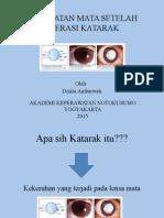 Lembar Balik perawatan mata post op katarak