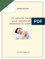 12 astuces faciles pour rapidement retrouver le sommeil