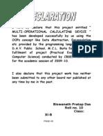 Declaration (documentation for project)