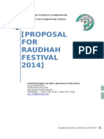 Proposal Format CFS IIUM