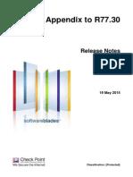 CP R77.30 Appendix ReleaseNotes
