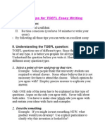 Great Tips for TOEFL Essay Writing
