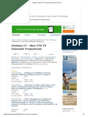 Intelsat 17 - New FTA TV Channels Frequencies _ Klik Do pdf