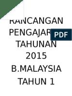 Rancangan Pengajaran Tahunan 2015