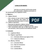 LEGISLACION MINERA 2015