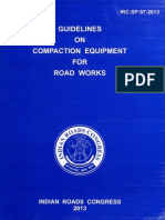Guide Lines on Compaction Equipment for Road Worksw- IRC-SP.97.2013