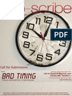 Bad Timing - Call For Submissions