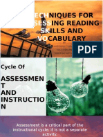 Techniques for Assessing Reading Skills and Vocabulary