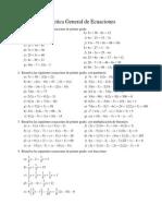 Material de Práctica del Tema Ecuaciones