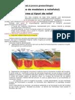 Agenti Si Procese Geomorfologice, Tipuri de Relief, Cl.9,Sinteza