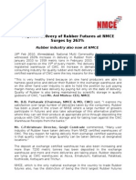 Physical delivery of Rubber Futures at NMCE Surges by 263%