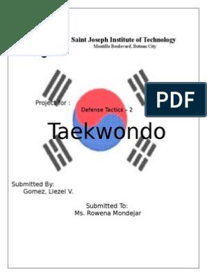 TAEKWONDO pdf   Taekwondo   Yin And Yang