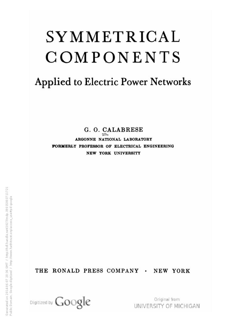 Schema Elettrico Za3 Came : Calabrese symmetrical components ac power quantity