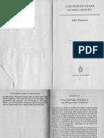 Passmore_100 Years Philosophy