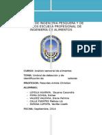 Umbral de Deteccion y de Identificacion de Sabores
