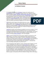 27491031 Article on Pakistan Economy