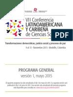 Programa General Conferencia CLACSO Medellin 2015 Mayo v1