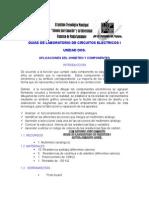 Aplicación Del Ohmetro y Componentes2