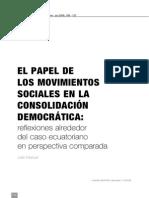 Julie Massal (2006) El Papel de Los Movimientos Sociales en La Consolidación Democrática. (2)