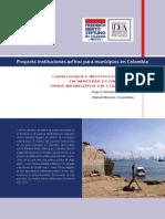 Capacidades institucionales en materia económica para municipios en Colombia.
