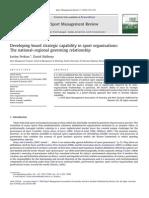 Developing board strategic capability in sport organisation s