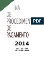 2014 - Rotina de Pagamento