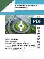 Memoria descriptiva diseño geométrico de carreteras