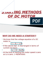 Starting Methods of DC motors