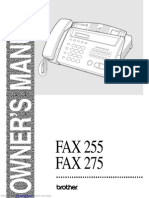 fax_275 brother user manual