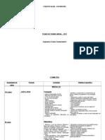 Plano Anual de Ensino - 3º Ano - 2011