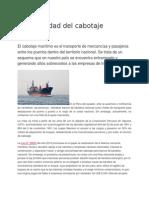 La Necesidad Del Cabotaje Marítimo