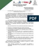 Constructivismo y Aprendizaje Significativo - Informe - Pedro y Luz