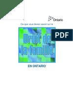 Droit de La Famille Ontario