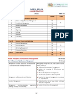 Business Studies 2015-2016 Course Structure