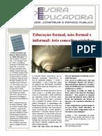 Escola formal informal e não-formal