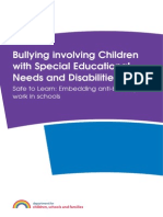 Bullying Involving Children with Special Educational Needs and Disabilities