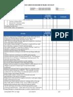 Prestressed Girder Checklist