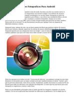 Los Mejores Editores Fotograficos Para Android