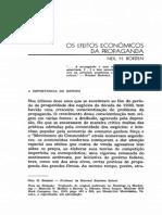 Os Efeitos Econômicos Da Propaganda - 1949[1]