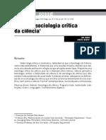 Ian Jarvie, Joseph Agassi - Por Uma Sociologia Crítica Da Ciência