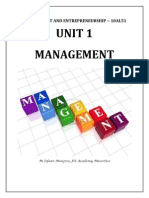 Unit 1 - Management