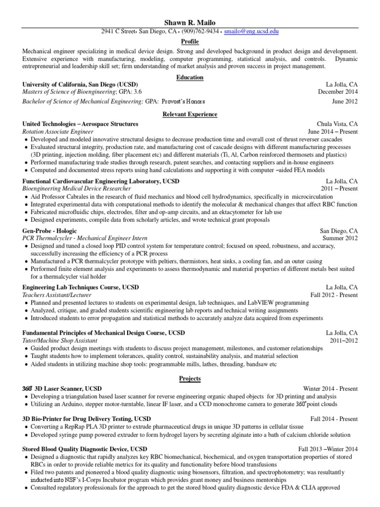 mailo shawn resume