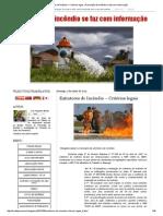Extintores de Incêndio – Critérios Legais _ Prevenção de Incêndio Se Faz Com Informação