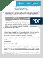 Recomendaciones para la vigilancia, prevención y atención de las Infecciones Respiratorias Agudas en Argentina. Actualización Mayo de 2015