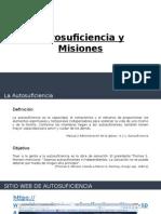 Presentación Autosuficiencia Misiones