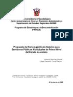 Propuesta de Homologación Salarios Municipios - Marzo de 2002