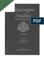 Montaigne Studies 1