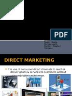 DIRECT MARKETING,  SALES PROMOTION & MANAGING PUBLIC RELATION