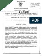 Decreto 1218 Del 04 de Junio de 2015